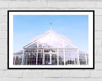 Botanic gardens greenhouse architecture digital print
