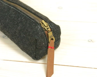 Felt pencil case - Black