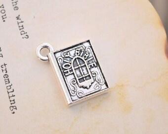 20 antique silver holy bible  charms bible charm pendant pendants  (HJ02)