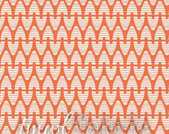 Woven Fabric - Sweet as Honey Beekeeper Coral - Half Yard +