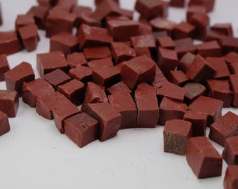 Dark Red Mosaic Smalti - 1/2 pound - 100 pieces - 10 mm x 10 mm