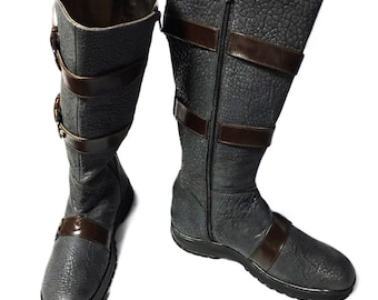 Mortal Kombat Scorpion cosplay boots
