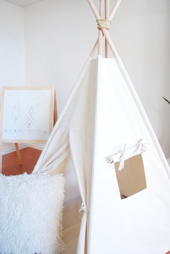Ready to Ship Small Natural Canvas Teepee Play Tent Kids Teepee Childrens Teepee Teepee Tent Tipi Playhouse & Ready to Ship Small Natural Canvas Teepee Play Tent Kids