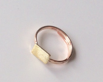 Brass ring/ Copper ring/ Minimal ring/ Geometric ring/ Stackable ring/ Modern ring/ Gift idea