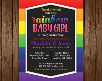 Rainbow Baby Shower Invitations, Rainbow Baby Shower, Printable Shower  Invitation, Rainbow Birthday Invitation, Baby Boy, Baby Girl, Neutral