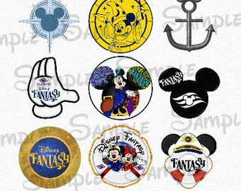 "Various Fantasy Cruise inspired DIGITAL Bottle Cap image sheet 4x6 1"" inch  DIY"