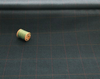 Optional fabric for waistcoat, petrol blue checked cashmere