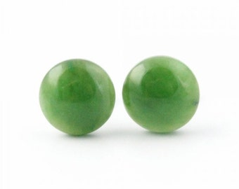 Canadian Nephrite Jade Stud Earrings