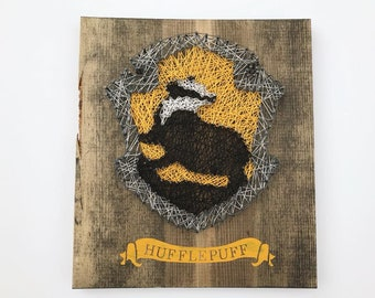 Hufflepuff String Art- Harry Potter- Home Decor- Personalized Gifts