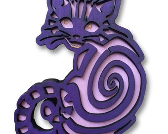 Cheshire Cat - Carved picture