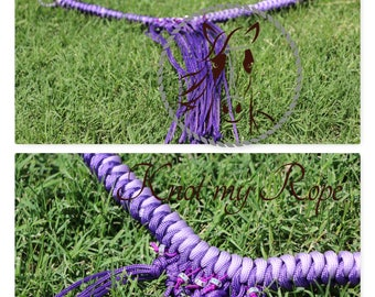 summer browband with fringes, horse tack, paracord browband