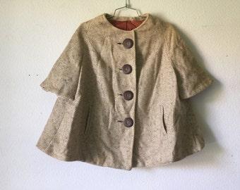 Vinage Coat: Short Wool