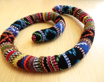 RAINBOW COUNTRY Dreadlocks Wrap / Wire headband / Dreads Tie / Hand sewn / Dreadlocks Style / Recyclable / 100% cotton / Made to Order