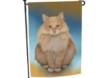 Siberian Cat Garden Flag