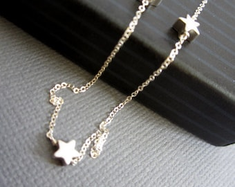 Sterling silver Star Necklace, mamma mia necklace, Sofie's star necklace, Dainty necklace, Three sterling silver star Jewelry, three wishes