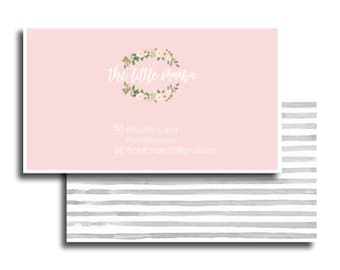Business Cards Printable, Name Card Template, Photography name card, calling cards, DIY business cards, floral business card