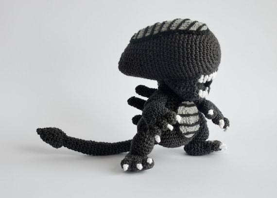 Crochet PATTERN No 1706 Alien by Krawka