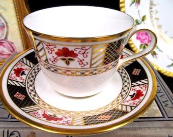 Royal Crown Derby Tea Cup and Saucer Cobalt Blue Teacup Cup & Saucer BR