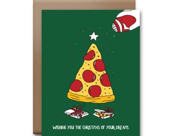 Pizza Christmas Card