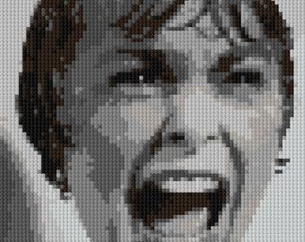 Shower Scream counted Cross Stitch Pattern Marion Crane Psycho Movie