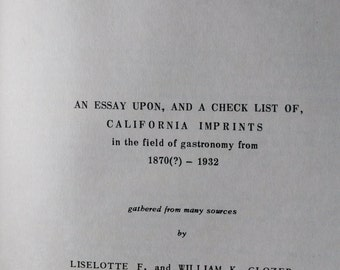 California in the Kitchen by Liselotte & William Glozer