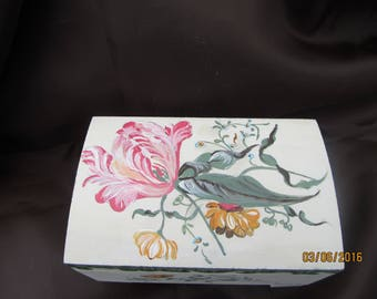 wooden box painted Valentine's day
