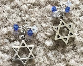 Star of David Earrings - Hexagram - Bat Mitzvah Gift