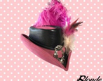 Dusty Rose and Black Riding Hat