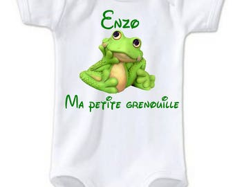 My little frog personalized with name Bodysuit