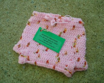 Newborn Baby Girls Wool Shortie Soaker Diaper Cover - Strawberry 506