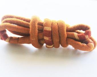 Indian Ikat woven fabric, fabric cord, textile cord, fabric jewelry, diy necklace, diy jewelry, textile jewelry, diy bracelet i32