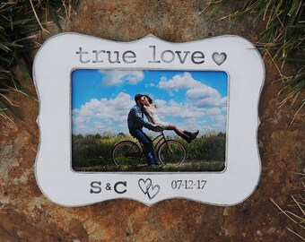 True love Engagement Gift Personalized Engagement picture Frame Wedding Gift Bridal shower bride to be Wedding Engagement Gift idea