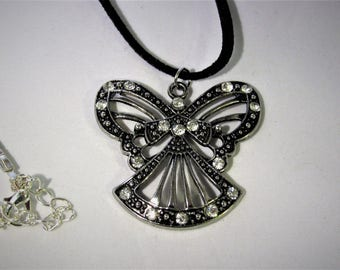 Angel with Crystal Rhinestones Necklace