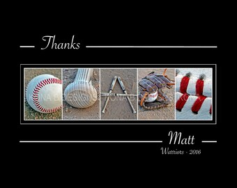 BASEBALL COACH Gift - Alphabet Photography -  8x10 Unframed - Coach's gift