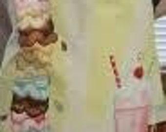 eat more ice cream apron
