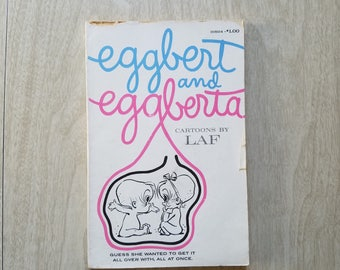 "Vintage Humor Book ""Eggbert and Eggberta"" Cartoons by LAF"