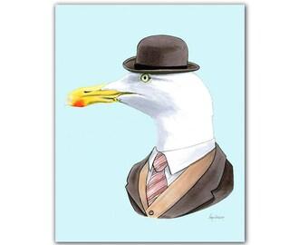 Seagull print 8x10