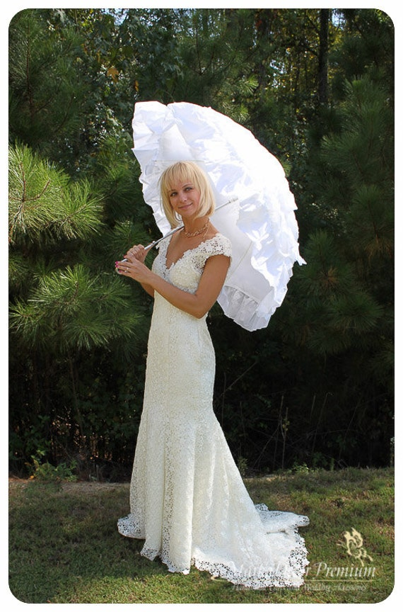 Wedding Parasol Bridal Umbrella With Multi Layers Of Gorgeous