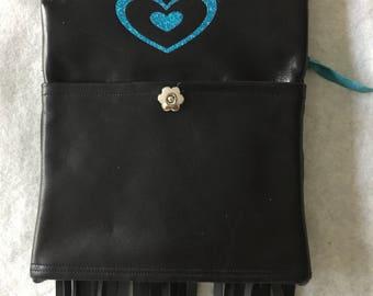 Black Fringed Biker Bag