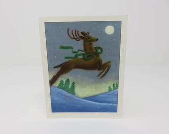 10 Reindeer Cards//Fun Holiday Cards//Blank Christmas Cards//Cards by Lily