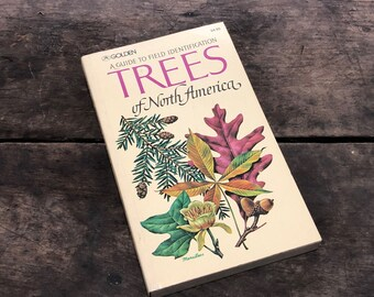 Trees Book Vintage Distressed Nature Guide