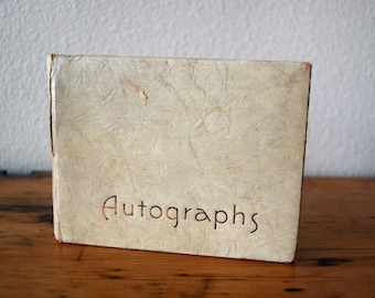 Vintage Autograph Book Vintage Marianne Ellen Dahill Autograph Book Vintage School Autograph Memories Book from The Eclectic Interior