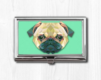 Business card case etsy pug business card case business card holder card case card holder pug pug dog dog art dog gift dog lover dog lover gift pug gift colourmoves