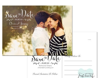 Save The Date Photo Card - Flat Card or Post Card - Printable Save The Date No.477
