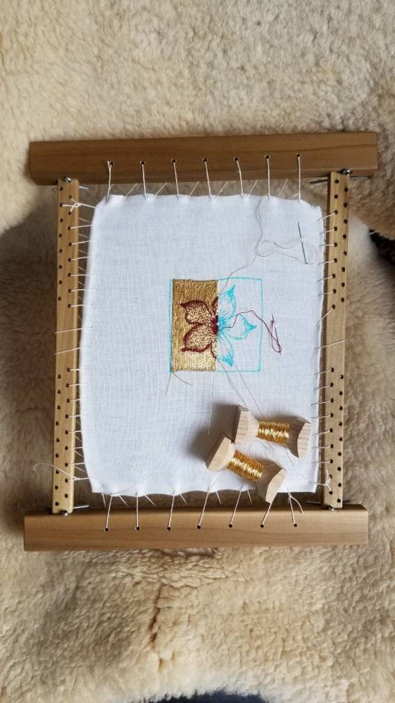Sipo mahogany embroidery slate frame 10x18 from TFWoodcraft on Etsy ...
