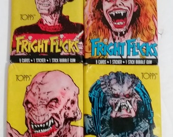 Trading Cards- Fright Flicks, Set of 4