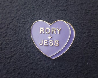 Gilmore Girls Rory + Jess Candy Heart Pin