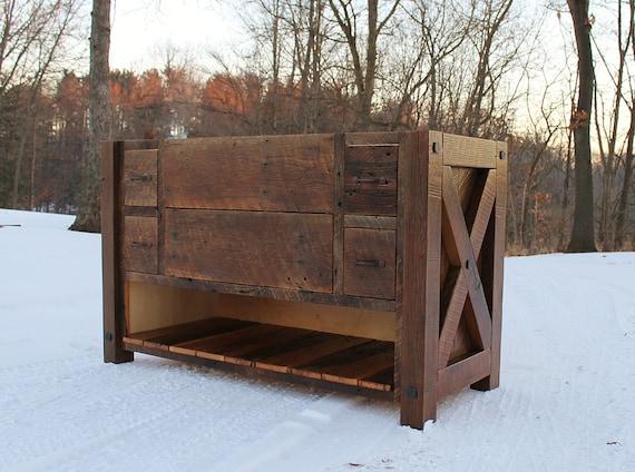 Benoist Reclaimed Wood Vanity Mirror: Rustic Vanity 60 Reclaimed Barn Wood Vanity W/Rustic