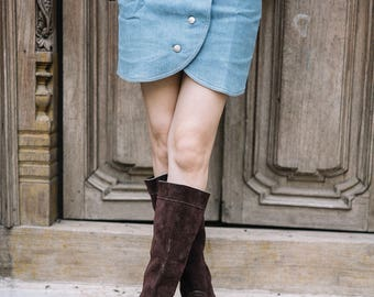 Slouch Boots | slouchy boots | tall brown boots | suede boots