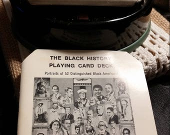 Black History Playing Card Deck with Shuffler